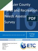 Fauquier Parks Rec Needs Assessment 2017