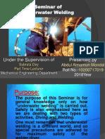 Seminar on Underwater Welding.pptx