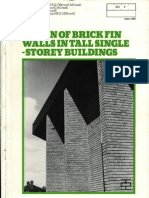 Design of Brick Fin Walls in Tall Single-storey Buildings 0690