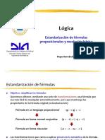 6. Estandarización de fórmulas proposicionales y resolución