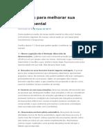 11 Dicas Para Melhorar Sua Saúde Mental _ Pearson Clinical Brasil