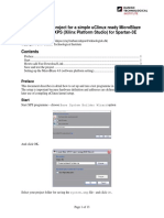 How to create a project for a simple uClinux ready MicroBlaze 4.0 design on XPS (Xilinx Platform Studio) for Spartan-3E.pdf