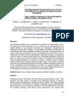 DIVERSIDAD DE BACTERIAS ENDOFITAS ASOCIADAS A CULTIVO DE ARROZ EN EL DEPARTAMENTO DE CORDOBA-COLOMBIA. ESTUDIO PRELIMINAR