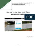 Sistema de Outorga Eletrônica DAEE - Manual Do Usuário