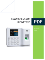Ayuda Reloj Bionet X10