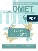 Comet Winter 2018 newsletter