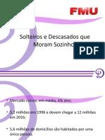 Mercado de Solteiros e Descasados que Moram Sozinhos