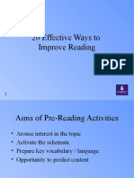 20 Effective Ways to Improve Reading