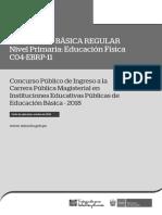 EXAMEN MINEDU C04-EBRP-11 EBR Primaria Educación Física
