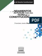 Francisco Javier Díaz Revorio - Fundamentos actuales para una teoría de la Constitución