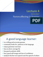 Lecture & Seminar 4 - Factors affecting L2 learning'18.ppt