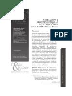 Validación y Legitimación de La Investigación en Educación y Pedagogía