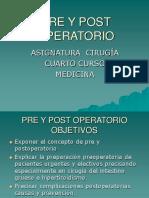 Pre y Post Operatorio