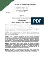 Ley Constitutiva de Las Fuerzas Armadas de Honduras