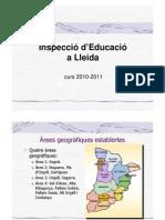 Inspecció d'Educació a Lleida 2010