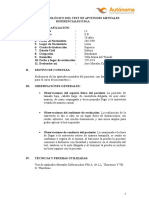 INFORME PSICOLÓGICO DE PMA