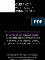 Tolerancia Inmunitaria y Autoinmunidad