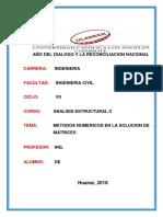 Metodos Numericos Para Resolver Matrices