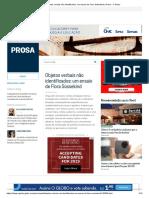Objetos Verbais Não Identificados_ Um Ensaio de Flora Süssekind _ Prosa - O Globo