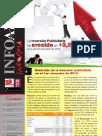 Resumen Infoadex Ene-jun 2010 +3,5%