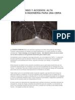 Túnel Yanango y Accesos