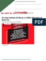 17-11-18 - EL SOL DE HERMOSILLO - Se suma Instituto de Becas y Crédito Educativo al Buen Fin - El Sol de Hermosillo