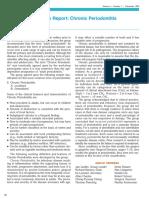 Consensus Report- Chronic Periodontitis