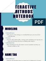 interactive methods notebook