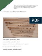 Construccion Flauta de Bambù