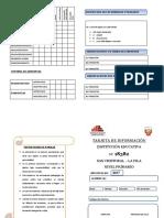 Tarjeta de Informacion