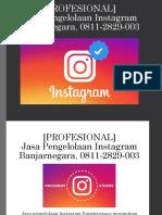 [PROFESIONAL] Jasa Pengelolaan Instagram Banjarnegara WA/SMS/Telp 0811-2829-003