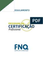 Regulamento Programa de Certificação Profissional