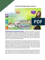 Trik Bermain Poker 99 Online Bonus Terbesar