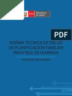 NORMA TÉCNICA DE PLANIFICACIÓN FAMILIAR