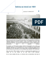 Censo en Bolivia Se Inició en 1831