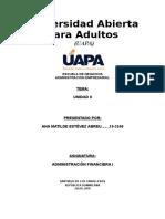 Tarea II Administración Financiera i