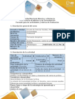 01 ACCION PSICOSOCIAL EN LA PSICOLOGIA JURIDICA- Guía de actividades y rúbrica de evaluación - Paso 1- Realizar análisis de caso