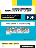 interdisciplinary assessment project  sustainability in the year 2050