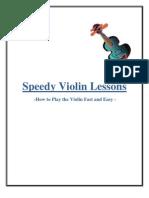 Speedy Violin Lessons