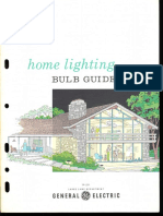 GE Home Lighting Bulb Guide Brochure 1964