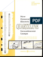 GE Quartzline Lamps Brochure 1960