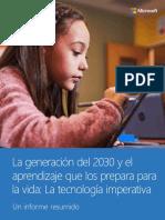 La Generacion Del 2030 y El Aprendizaje