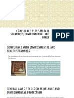 Compliance With Sanitary Standards, Environmental and Other