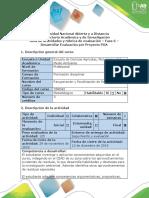 Guía de actividades y rubrica de evaluacion - fase 6 - Desarrollar Evaluación por proyecto POA.docx