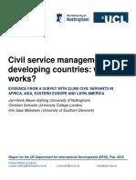 Meyer Sahling Schuster Mikkelsen - What Works in Civil Service Management