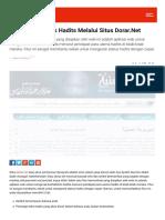 Check Validitas Hadist Dengan Dorar.Net website