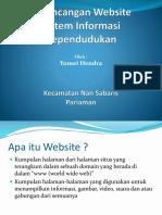 Perancangan Website Sistim Informasi Kependudukan