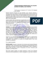 Informe Anual de Misión Nazarena Internacional
