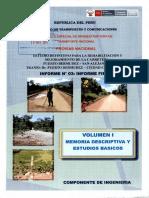 Memoria Descriptiva y Estudios Basicos