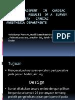 Fluid Managemen t in Cardiac Surgery – Results